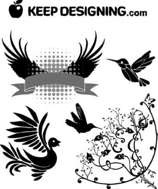 Vector Art Free Clip Art Bird Wings Design Vectors