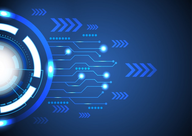 Premium Vector | Vector background abstract technology ...