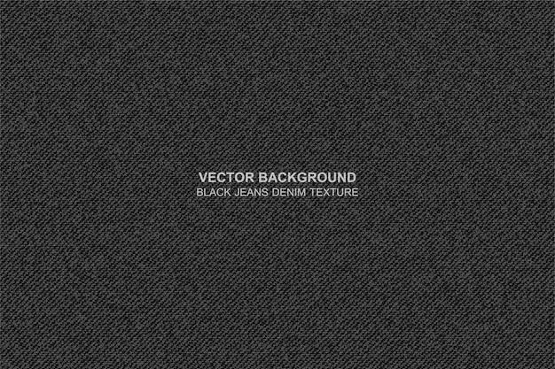 Vector background black jeans denim texture Premium Vector