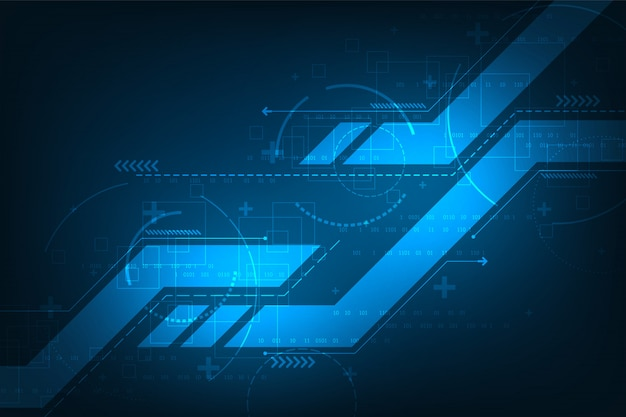 Vector background in the concept of technology. Premium Vector