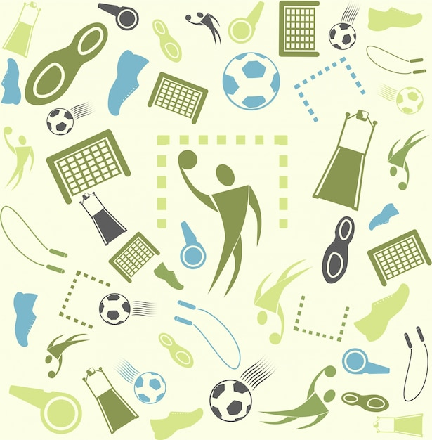 Vector background seamless. Sport and\ handball.