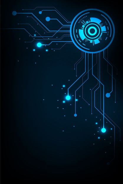 Vector background technology in the concept of circuit. Premium Vector