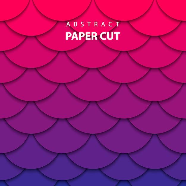 Vector background with gradient color paper cut Premium Vector