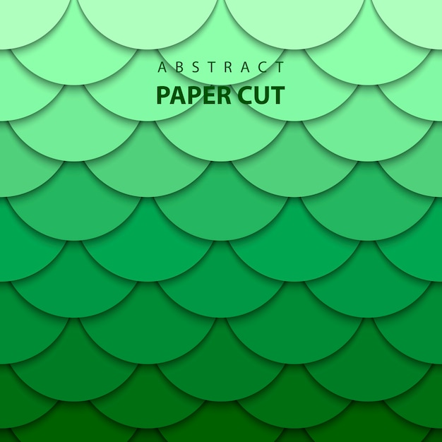 Vector background with green gradient color paper cut shapes Premium Vector