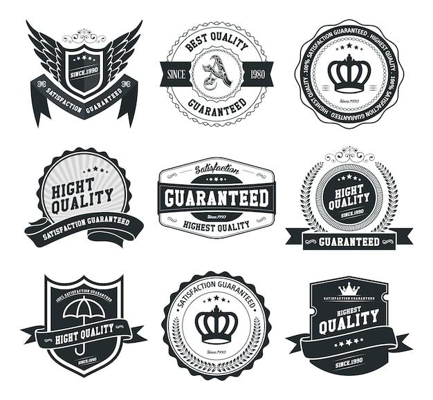 Vector badges and labels set Premium Vector