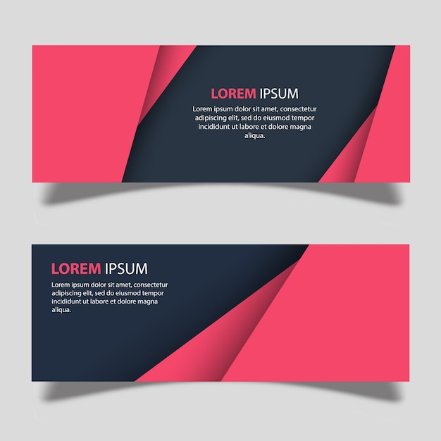 Vector Banner Designs Template Free Vector