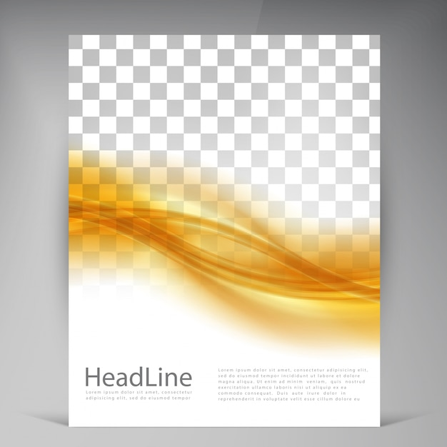 Vector Beautiful Gold Satin Flyer Free Vector