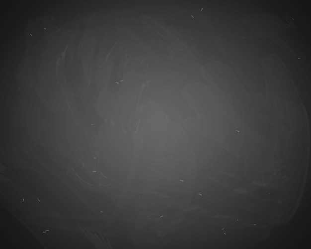 Vector black chalkboard background. blackboard with chalk traces Free Vector
