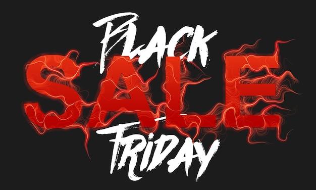 Вектор черная пятница продажа текст с красным фоном пламени Бесплатные векторы