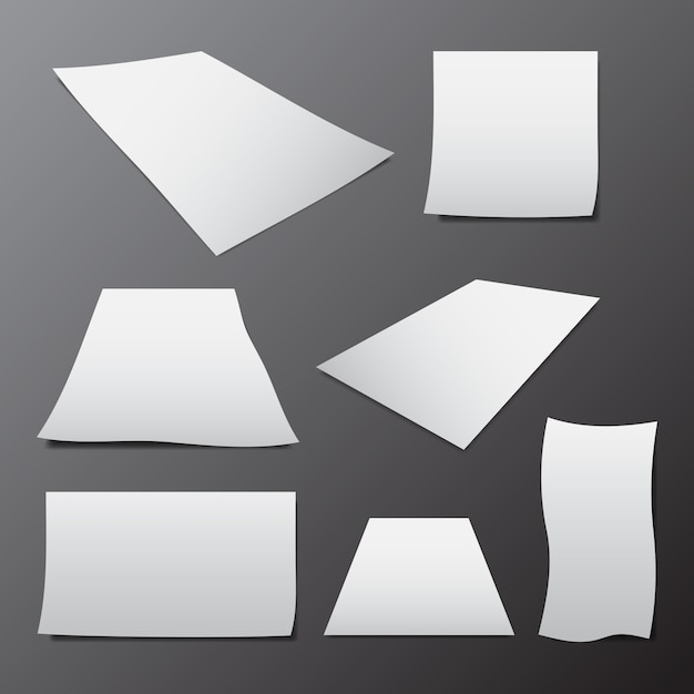 Vector of blank paper template Premium Vector