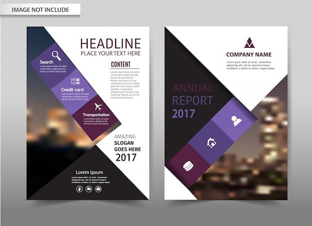 Vector brochure flyer template Premium Vector