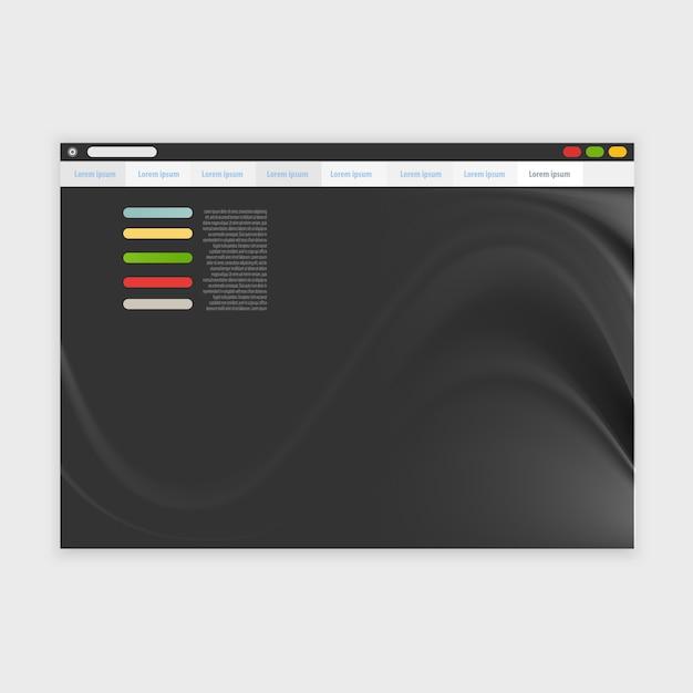 Векторный дизайн браузера с отзывчивым Бесплатные векторы
