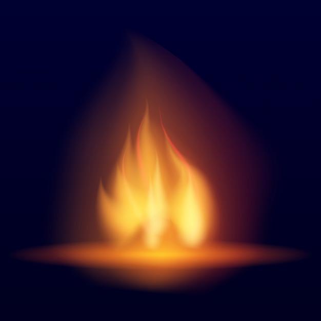 ベクトル燃焼たき火。 Premiumベクター