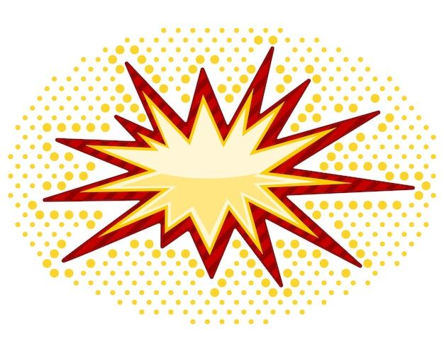 Vector bursting isolato su bianco Vettore gratuito