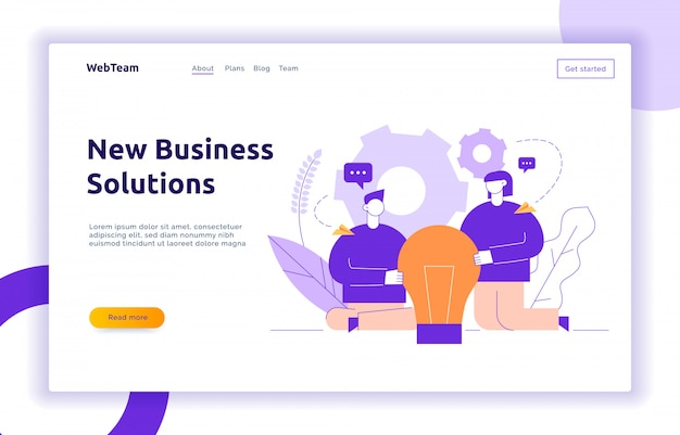 Vector business and brainstorming design concept Premium Vector