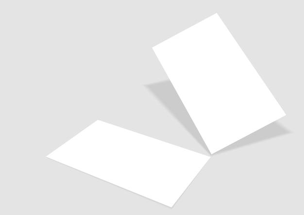 Шаблон с векторной визитной карточкой Premium векторы