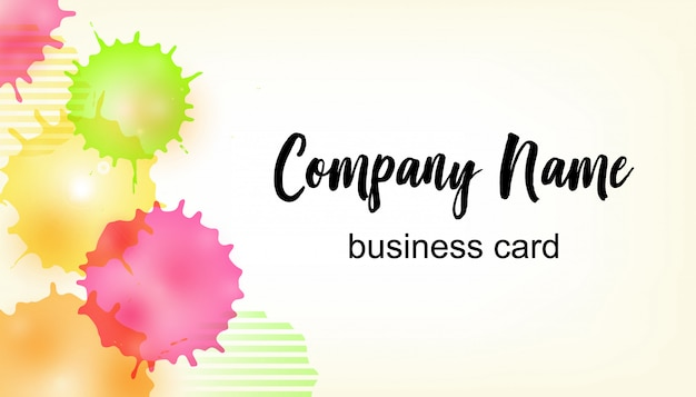 Vector business card template Premium Vector