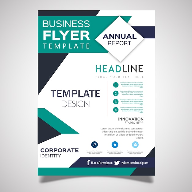 vector business flyer designs free vector