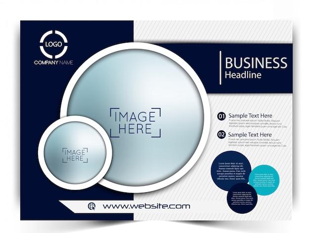 Vector business flyer template Premium Vector