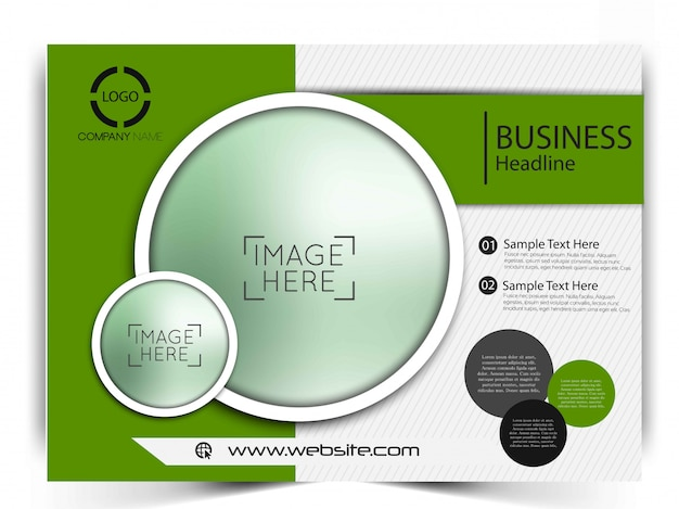 Vector business flyer template Premium Vector