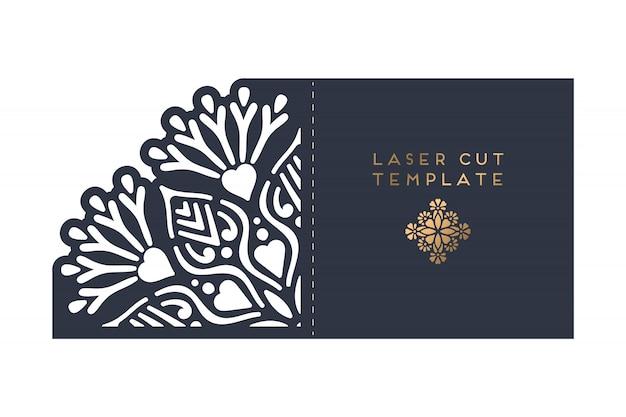 Vector card laser cut template Free Vector