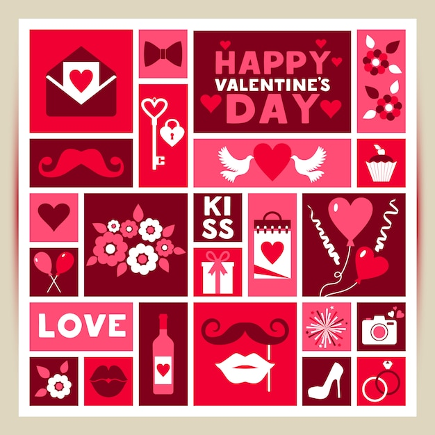 Vector card of valentine day Premium Vector