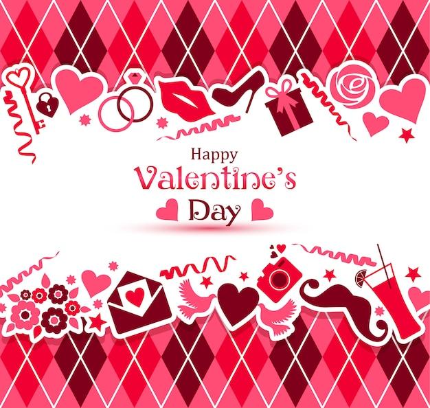 Vector card of valentine day Premium Vector
