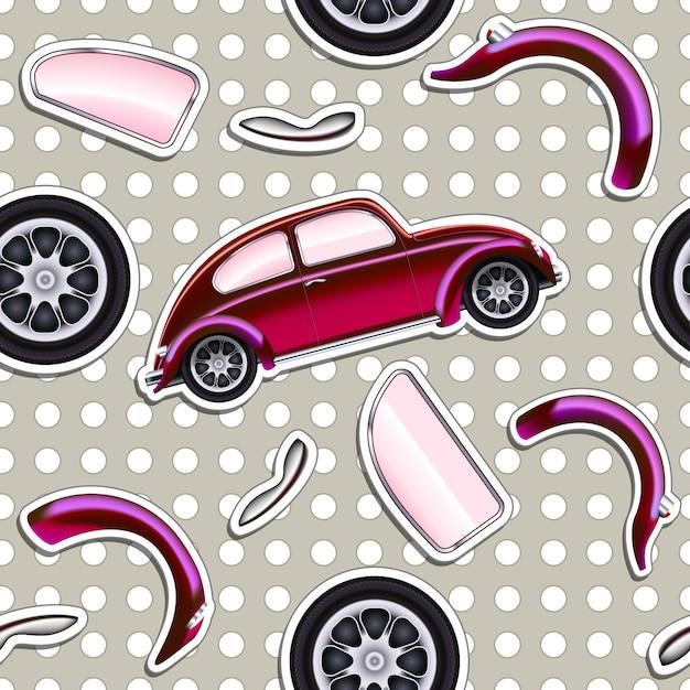 Вектор автомобили бесшовный фон для мальчиков малыша Бесплатные векторы