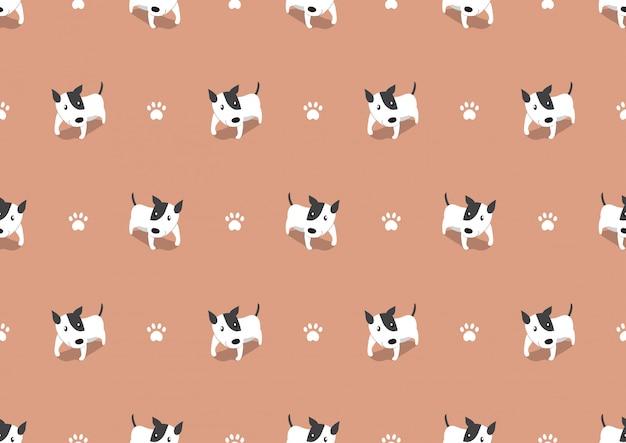 Vector cartoon cute dog seamless pattern background Premium Vector