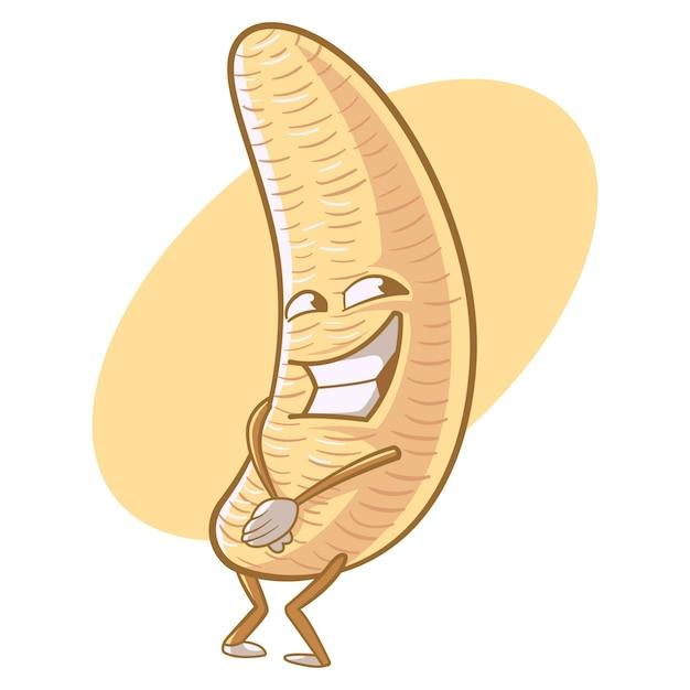 Vector cartoon illustration of cute banana. Premium Vector