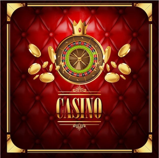 Vector casino gambling game luxury background Premium Vector