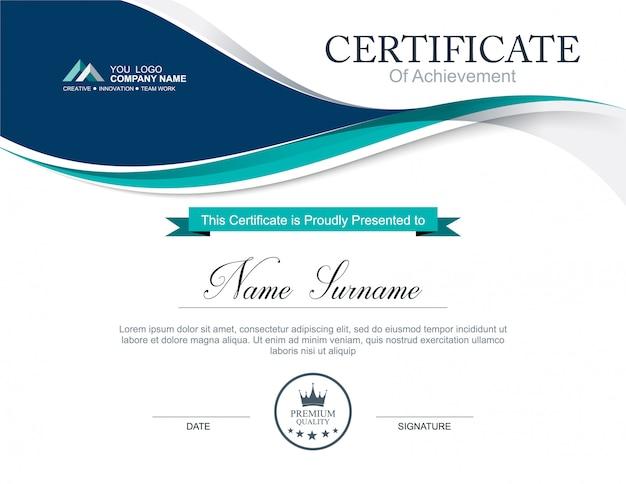 Vector certificate template Premium Vector