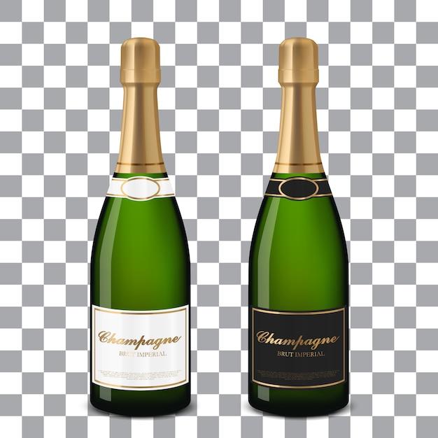 Vector champagne bottles Premium Vector