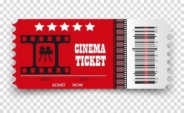 Вектор кино билеты изолированы. реалистичный билет в кино. Premium векторы