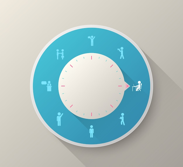 Vector circle business people icons Premium Vector