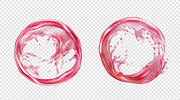 Вектор круг всплеск сока или розовой воды Бесплатные векторы