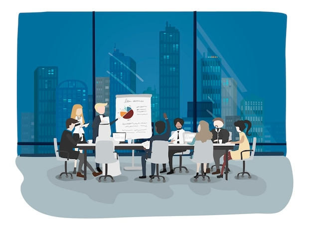 Vector collection of business people Free Vector