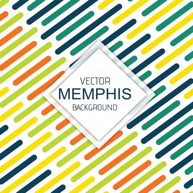 Vector colorful memphis background Premium Vector