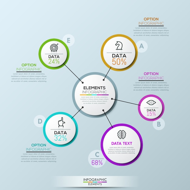 Vector company infographic overview template Premium Vector