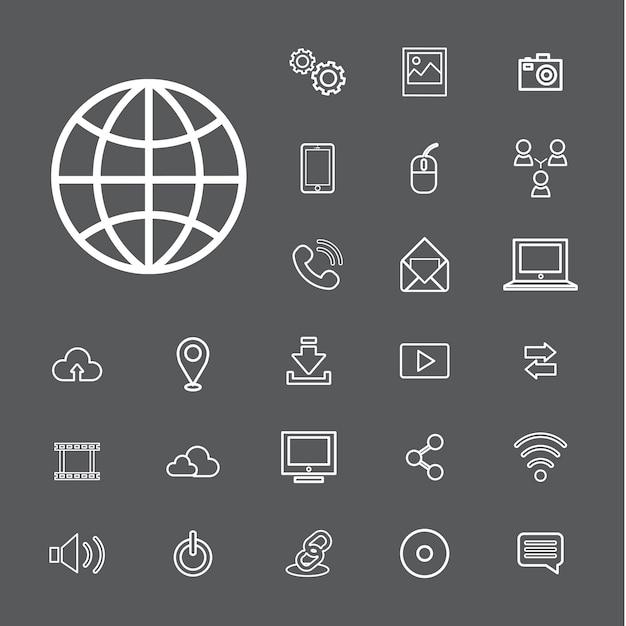 Концепция пользовательского интерфейса цифровых технологий vector connection Бесплатные векторы