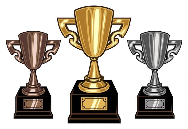 Vector cups set Free Vector