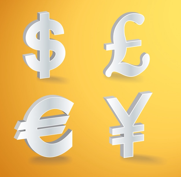 Vector currency icons Premium Vector