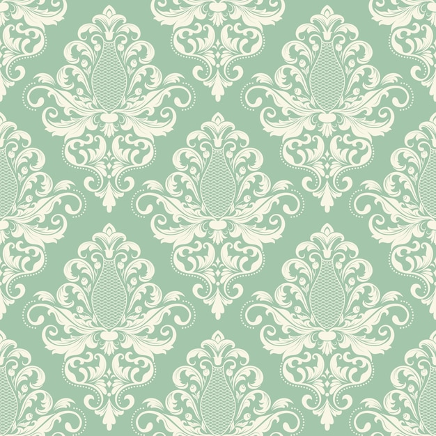 Vector damask seamless pattern background classical for Baroque style wallpaper