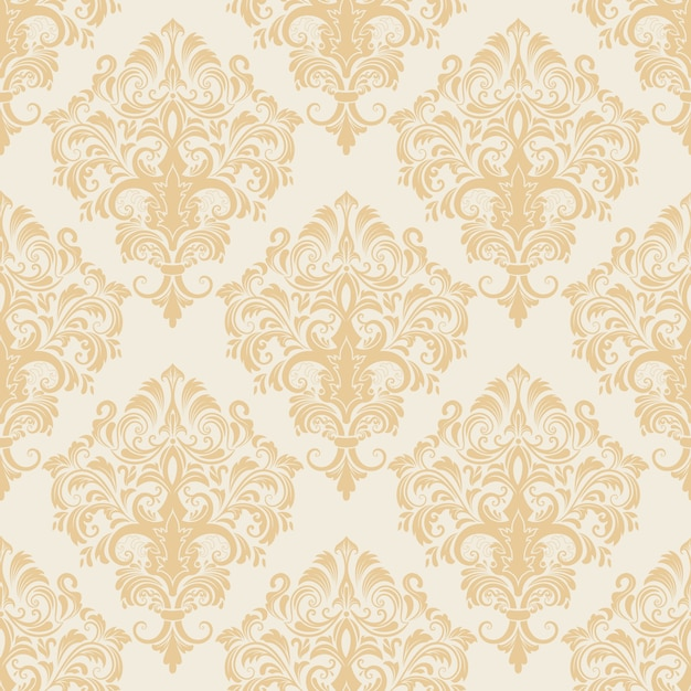 vector damask seamless pattern background classical