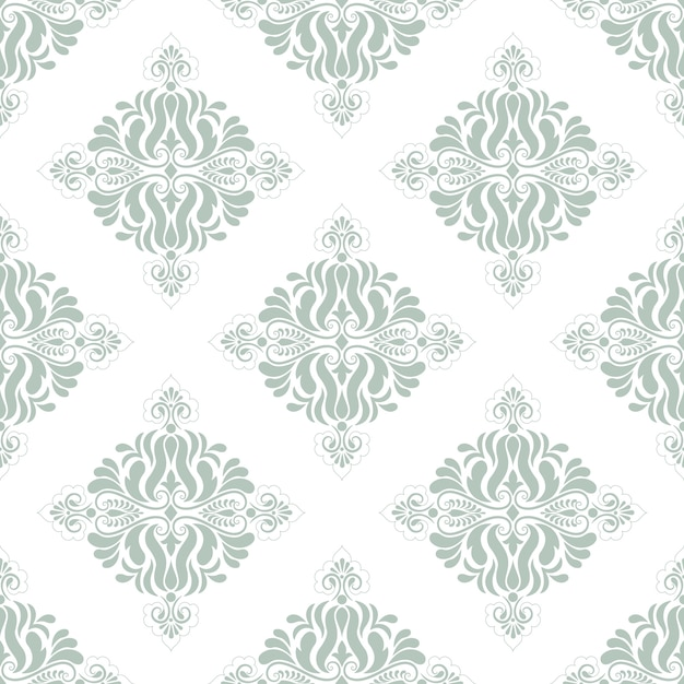 Vector Damask Seamless Pattern Background Classical Luxury Old