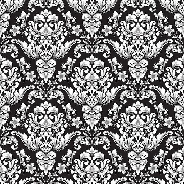 Vector damask seamless pattern background. classical luxury old fashioned damask ornament, royal victorian seamless texture for wallpapers, textile, wrapping. Free Vector