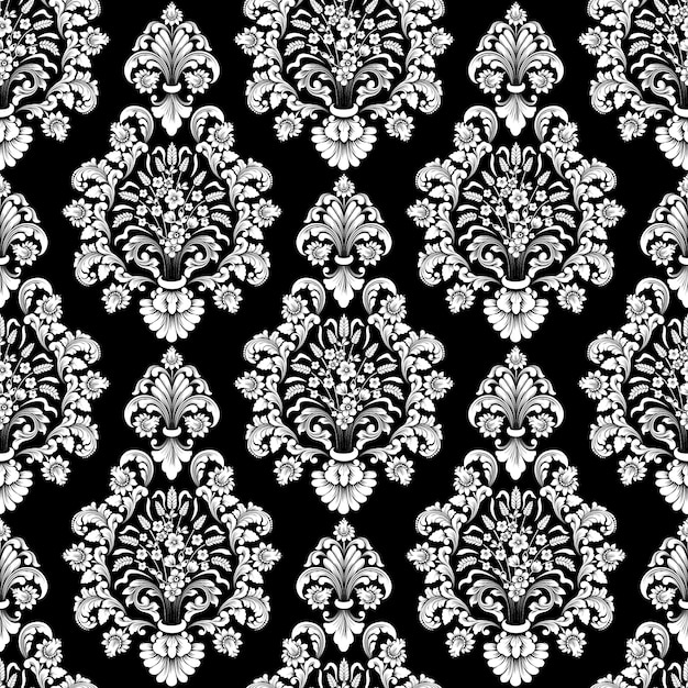 Vector damask seamless pattern. classical luxury old fashioned damask ornament, royal victorian wallpapers Free Vector