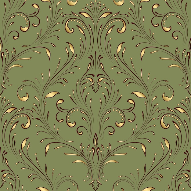 벡터 다 완벽 한 패턴 요소입니다. 클래식 럭셔리 구식 다 장식, 월페이퍼, 섬유, 포장을위한 로얄 빅토리아 원활한 질감. 절묘한 꽃 바로크 템플릿. 무료 벡터