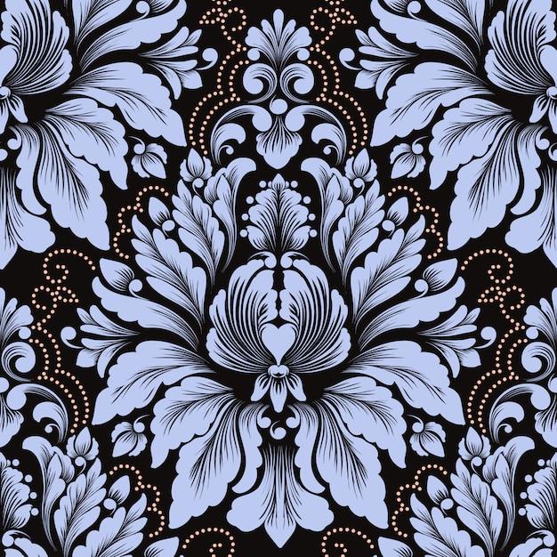 Вектор дамасской бесшовные модели. классический роскошный старинный дамасский орнамент, королевский викторианский стиль Бесплатные векторы
