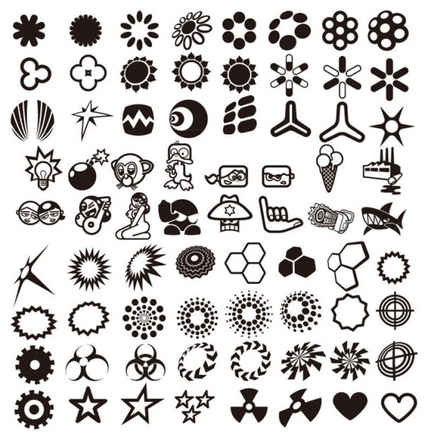 vector design elements collection Free Vector